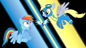 Rainbow Dash and Derpy Wonderbolt Wallpaper