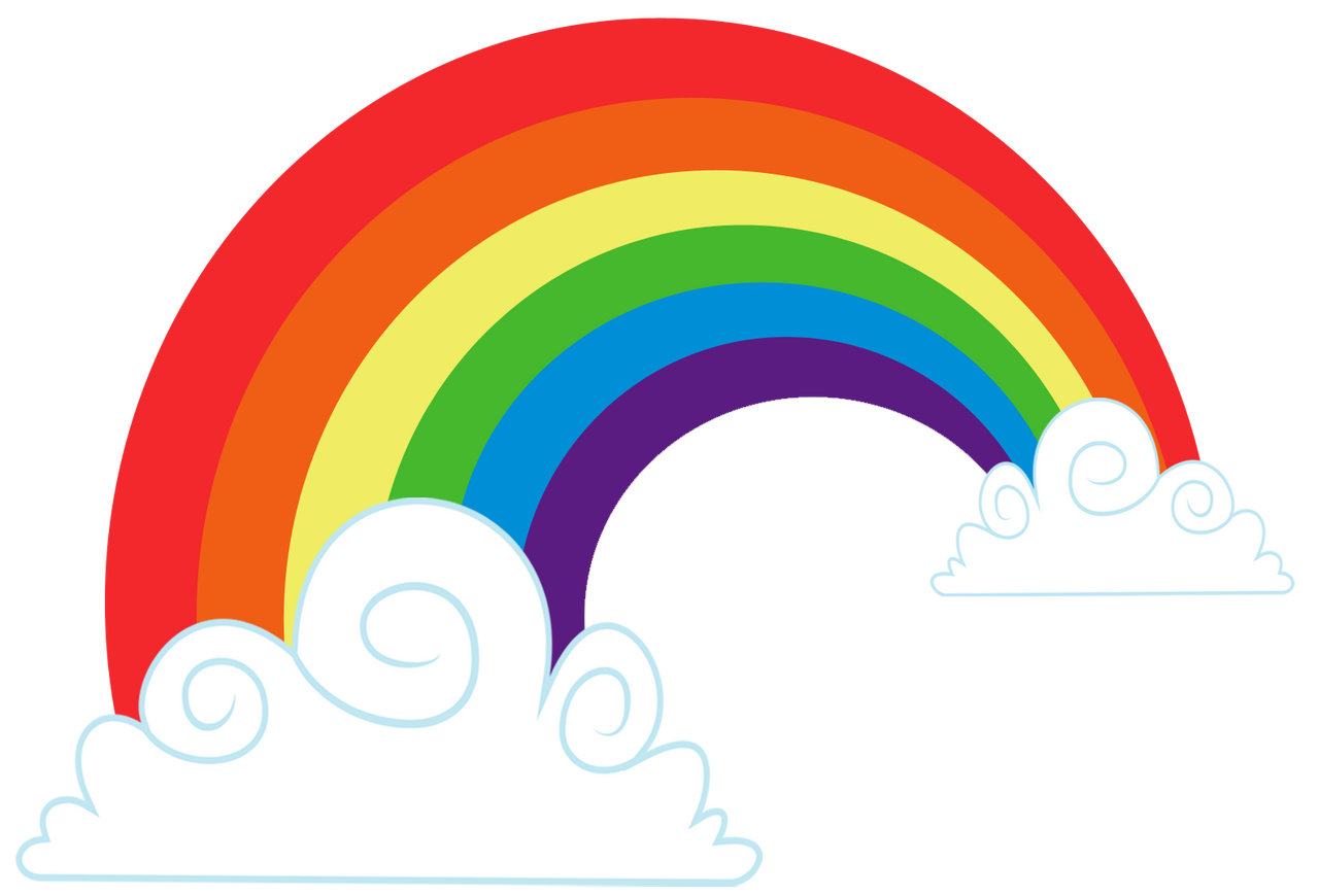 how to draw a cute rainbow cloud