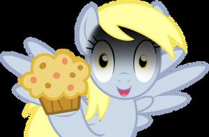 Derpy on Muffins Vector by GreenMachine987