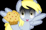 Derpy on Muffins Vector