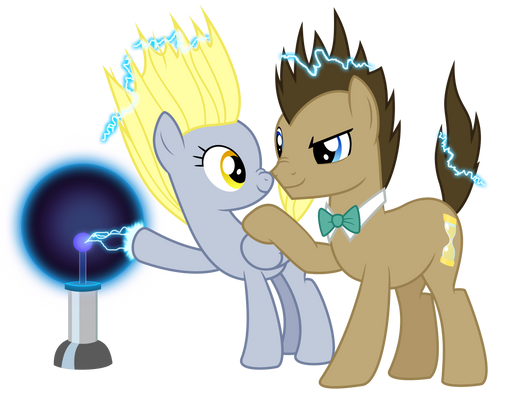 Doctor, Derpy, and Science! Vector (REMADE)