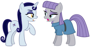Moonlight Raven and Maud Pie Talking Vector