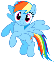 Flying Rainbow Dash Vector by GreenMachine987
