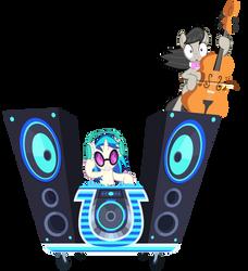 DJ Pon-3 and Octavia's Ride Vector