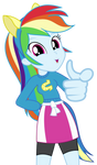 Rainbow Dash Pointing At You Vector