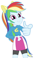 Rainbow Dash Pointing At You Vector (Version 2) by GreenMachine987