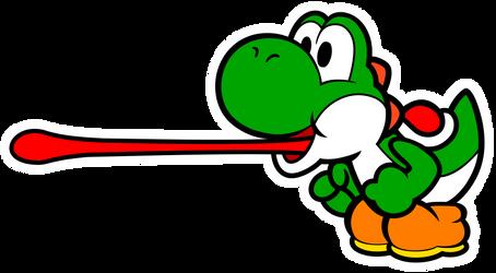 Green Paper Yoshi Vector #2