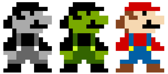 8 bit Mario vectors