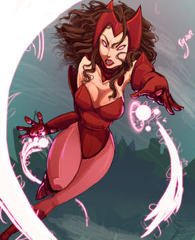 Scarlet Witch by ceshira