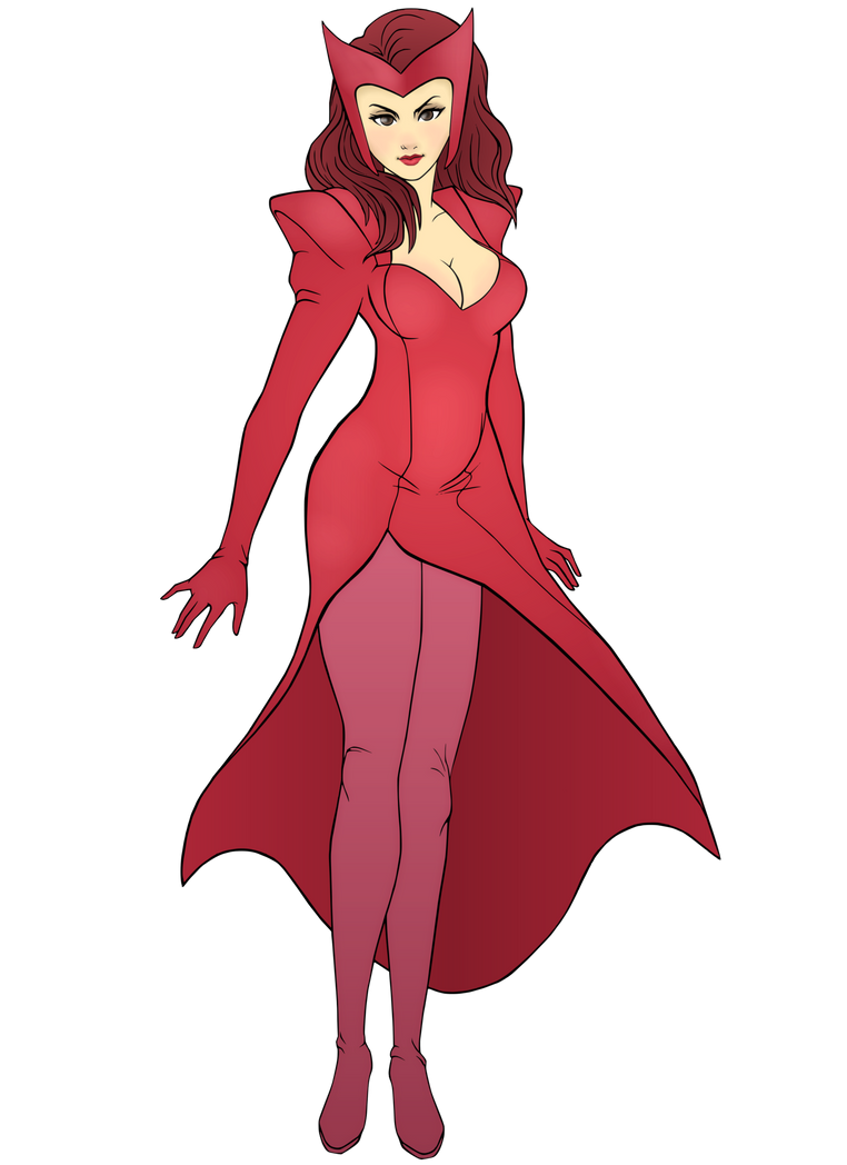 Scarlet Witch By R3dfive by singory on DeviantArt