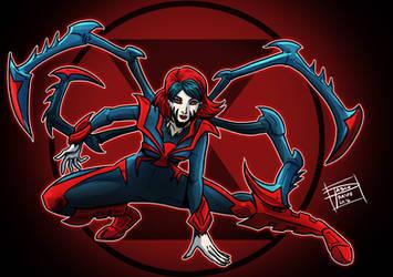 Symbiote Blackwidow By Optimuspraino