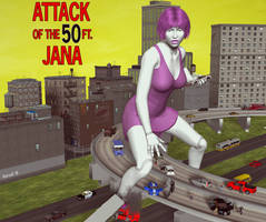 Attack of the50ft Jana by Hotrod5