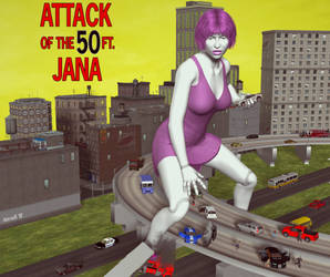 Attack of the50ft Jana by Hotrod5 by singory