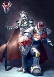 Hordak and Horde Captain by Cric by singory