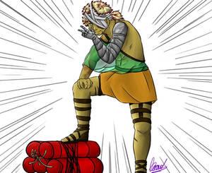 Soan (OC) doing some king of jojo pose