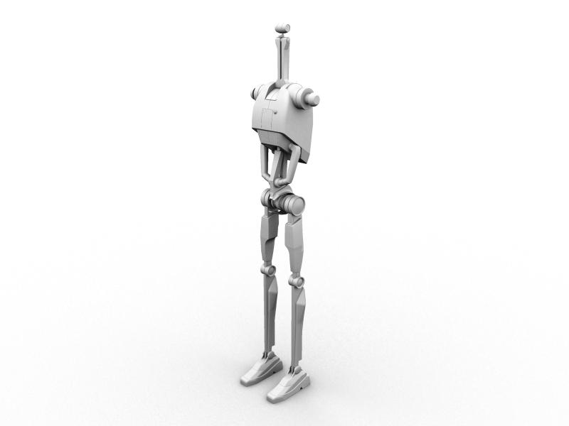 B1 Battle Droid progress 2 by Kyle-Katarn145