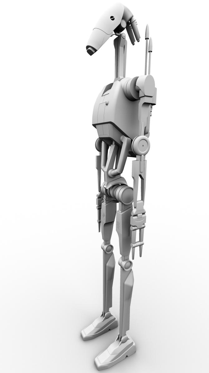 B1 Battle Droid Finished 1 by Kyle-Katarn145