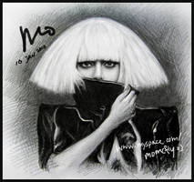 drawing of Lady Gaga 2 by mcglory