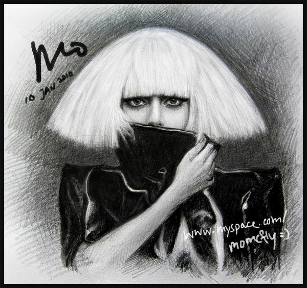 drawing of Lady Gaga 2 by mcglory