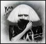 drawing of Lady Gaga 2