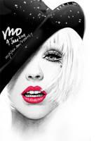 Christina Aguilera drawing by mcglory