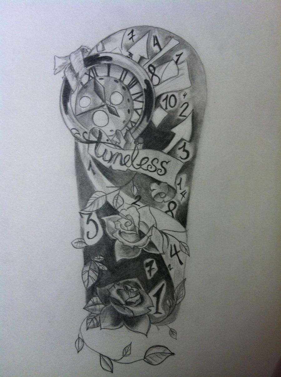 Timeless tattoo forearm