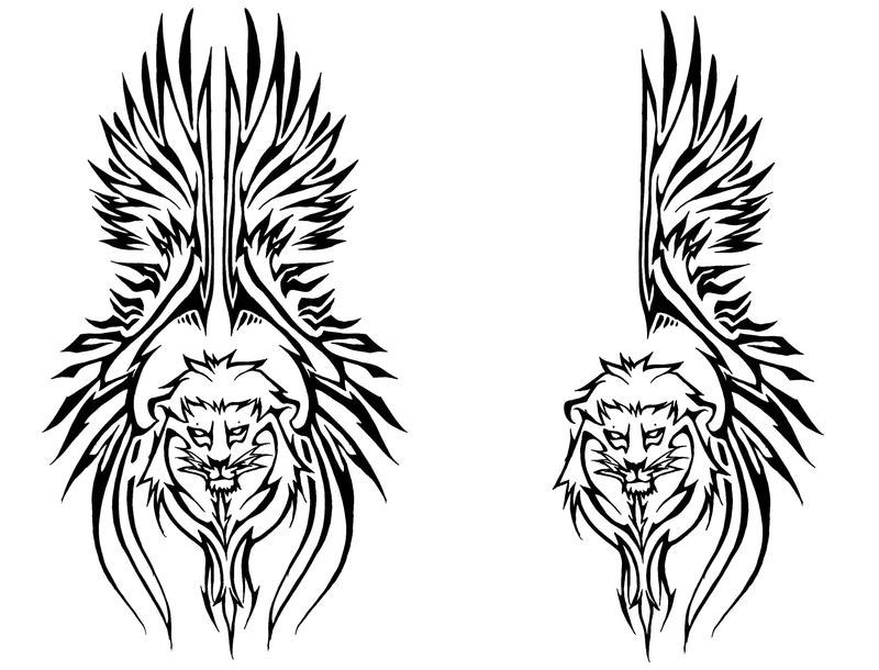 Winged lion tattoo - photo#25