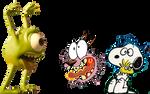 Mike asusta a Snoopy y Coraje
