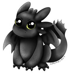 Toothless by LCMetalArt