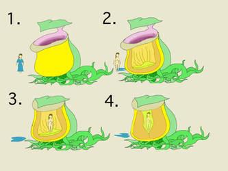 The Giant Golden Pitcher, a Feeding Process by Alt-art-nateDesign