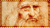 Leonardo da Vinci_stamp by Dik-LEN-vaY