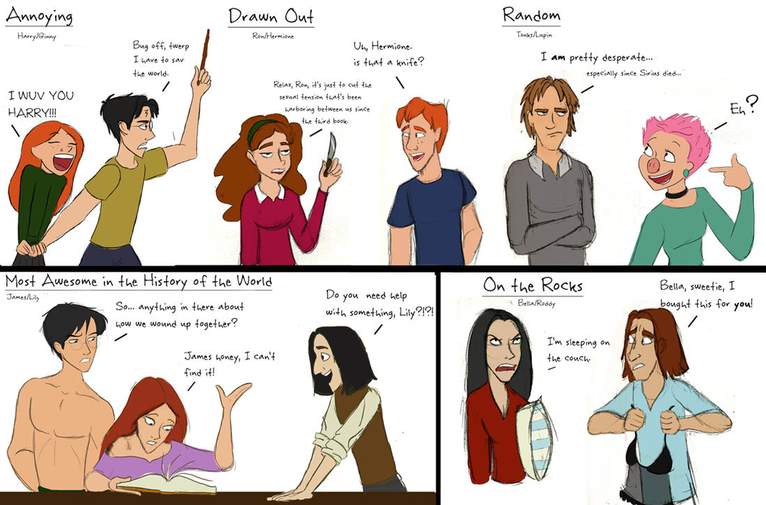 HP Relationships Doodles by julvett