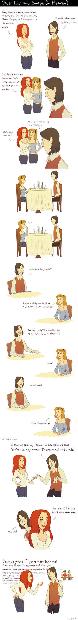 Older Lily and Snape