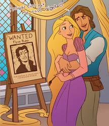 Rapunzel paints Flynn
