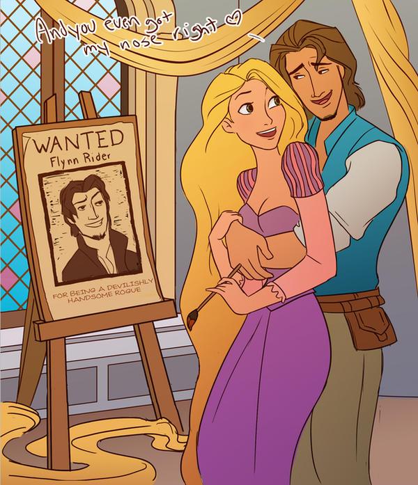 L'image qui roxe du saucisson Rapunzel_paints_flynn_by_julvett-d358thl