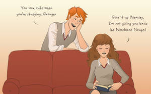 Tumblr 2 - Fred and Hermione by julvett
