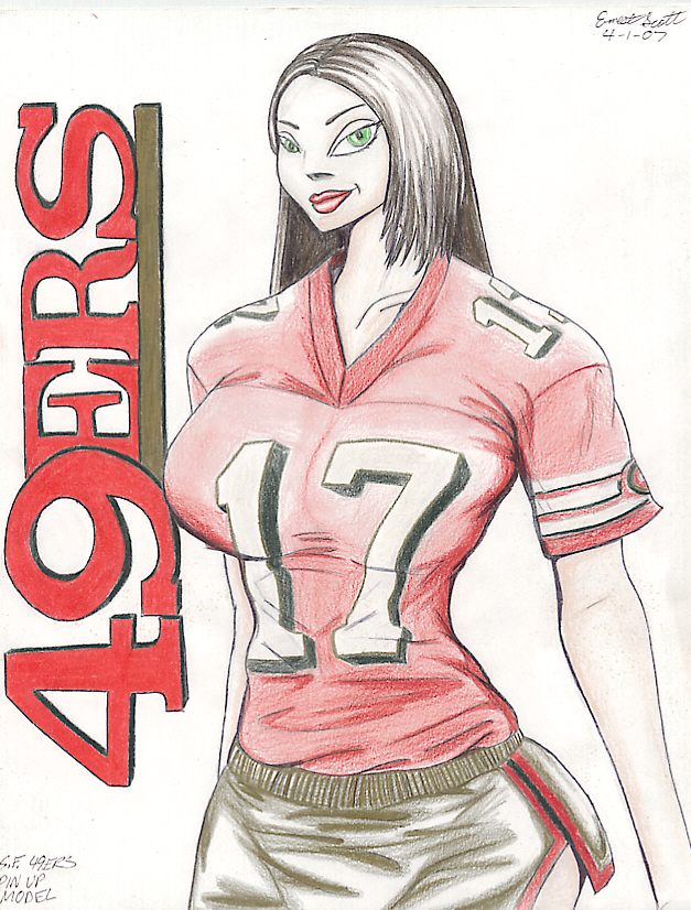 S.F. 49ers Pin Up Model by ImfamousE
