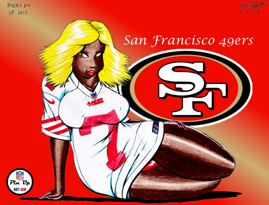 49ers pin up 2013 by imfamouse on deviantart 49ers pin up 2013 by imfamouse voltagebd Choice Image