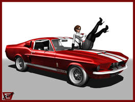 Elastic Girl and The 1967 Shelby by ImfamousE