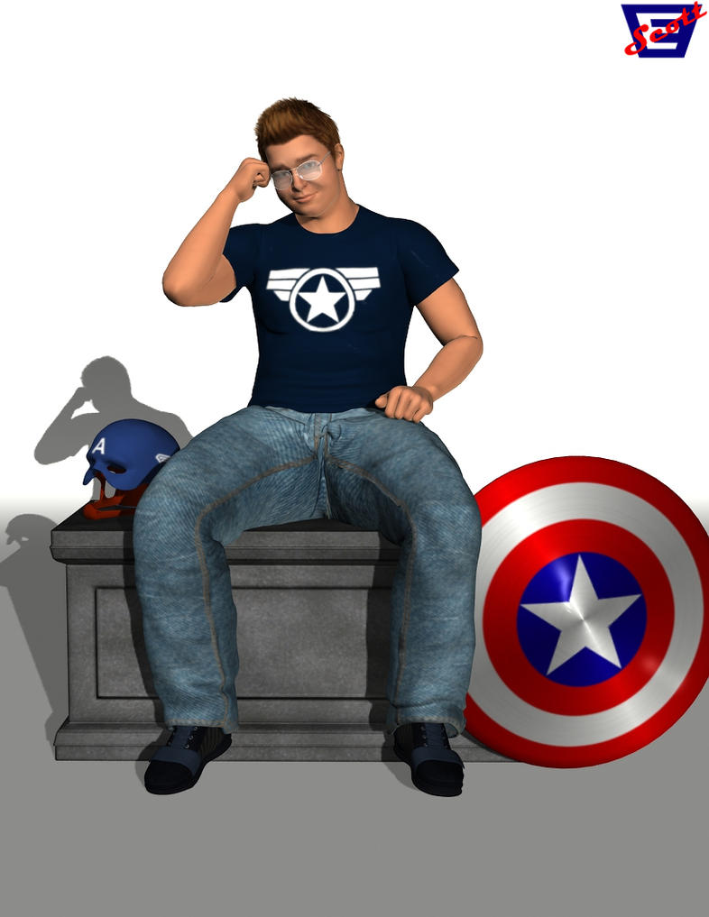 Michael Aaron The Captain America Fan by ImfamousE