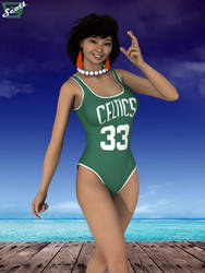 Sky's Celtics Swimsuit