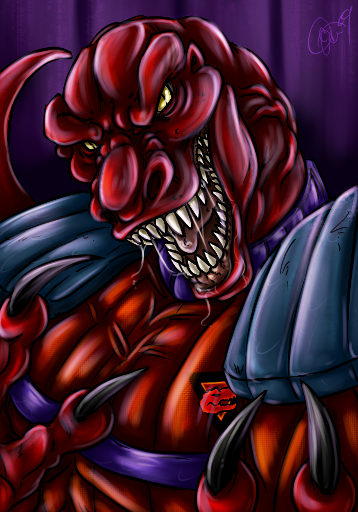 Random Fanart - Genghis Rex by BLACK-HEART-SPIRAL