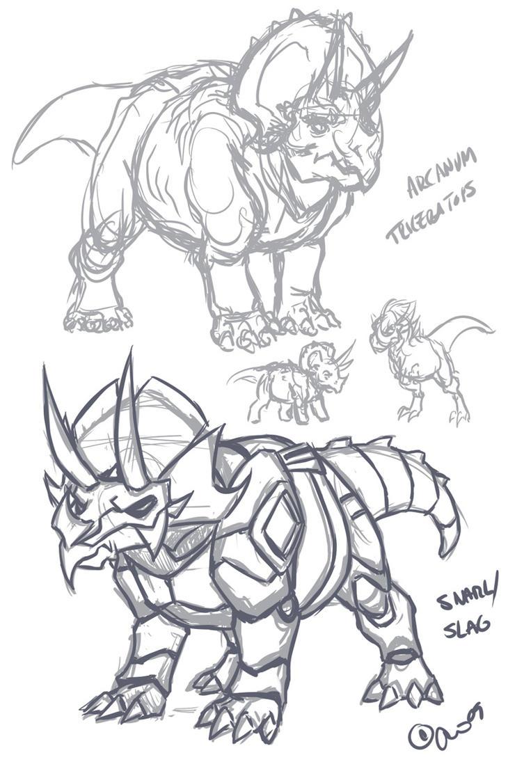 ARCxTF- Triceratops Snarl_Slag by BLACK-HEART-SPIRAL