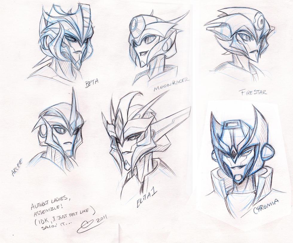 TFP Design Autobot Femme Faces by BLACK-HEART-SPIRAL