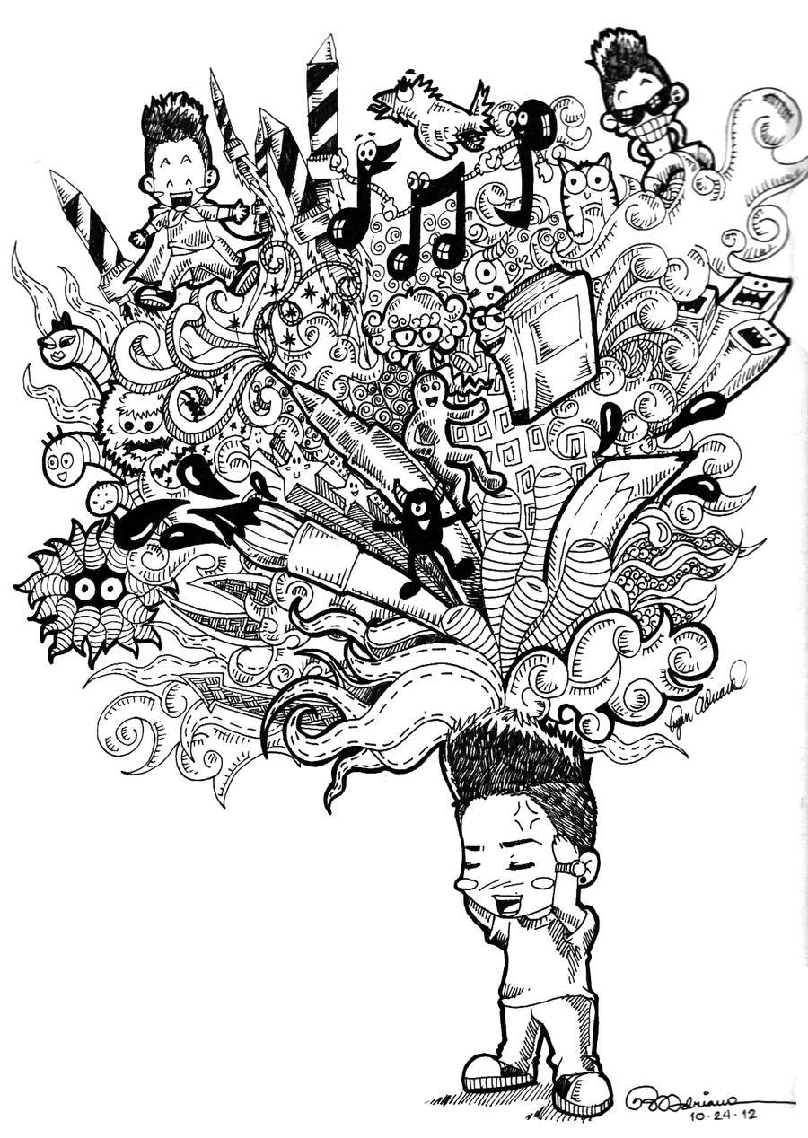 Doodled Mind by asoulofanartist