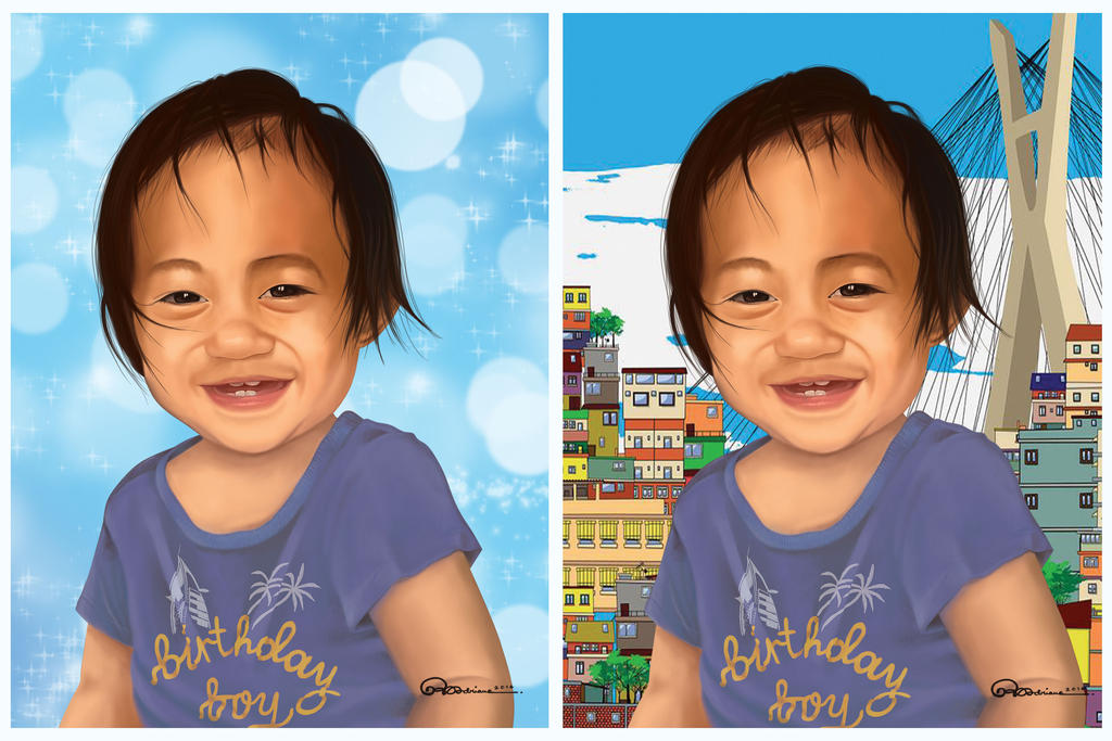 Baby Elijah by asoulofanartist
