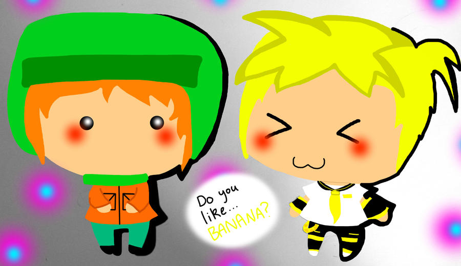 SP and VOC - Kyle and Kagamine Len by TweekPark