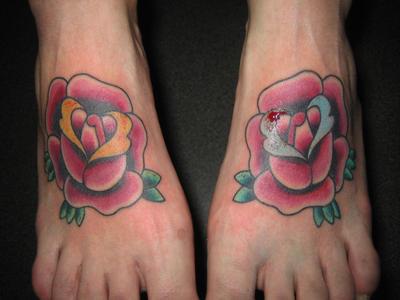 puffed heart tattooes