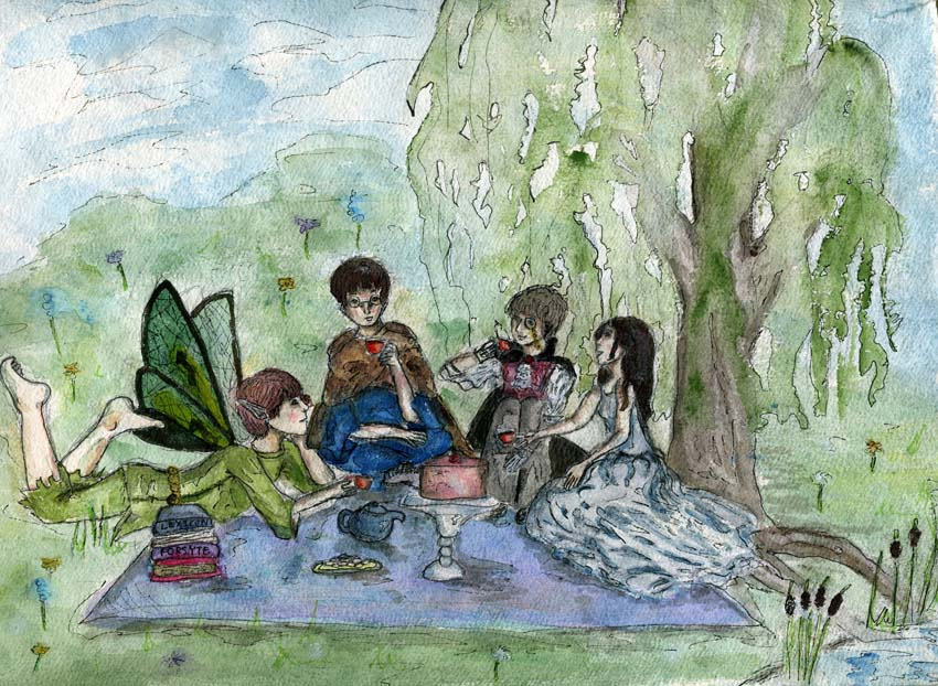 Creatures' Tea Party by quixotical