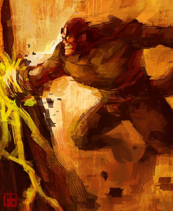 Hellboy by zamzami